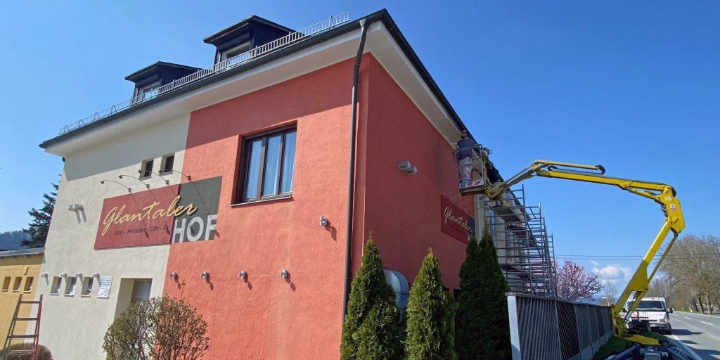 Hotel Restaurant Glantalerhof mit neuer Fassade